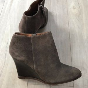 Woman's Almond Toe Wedge Booties